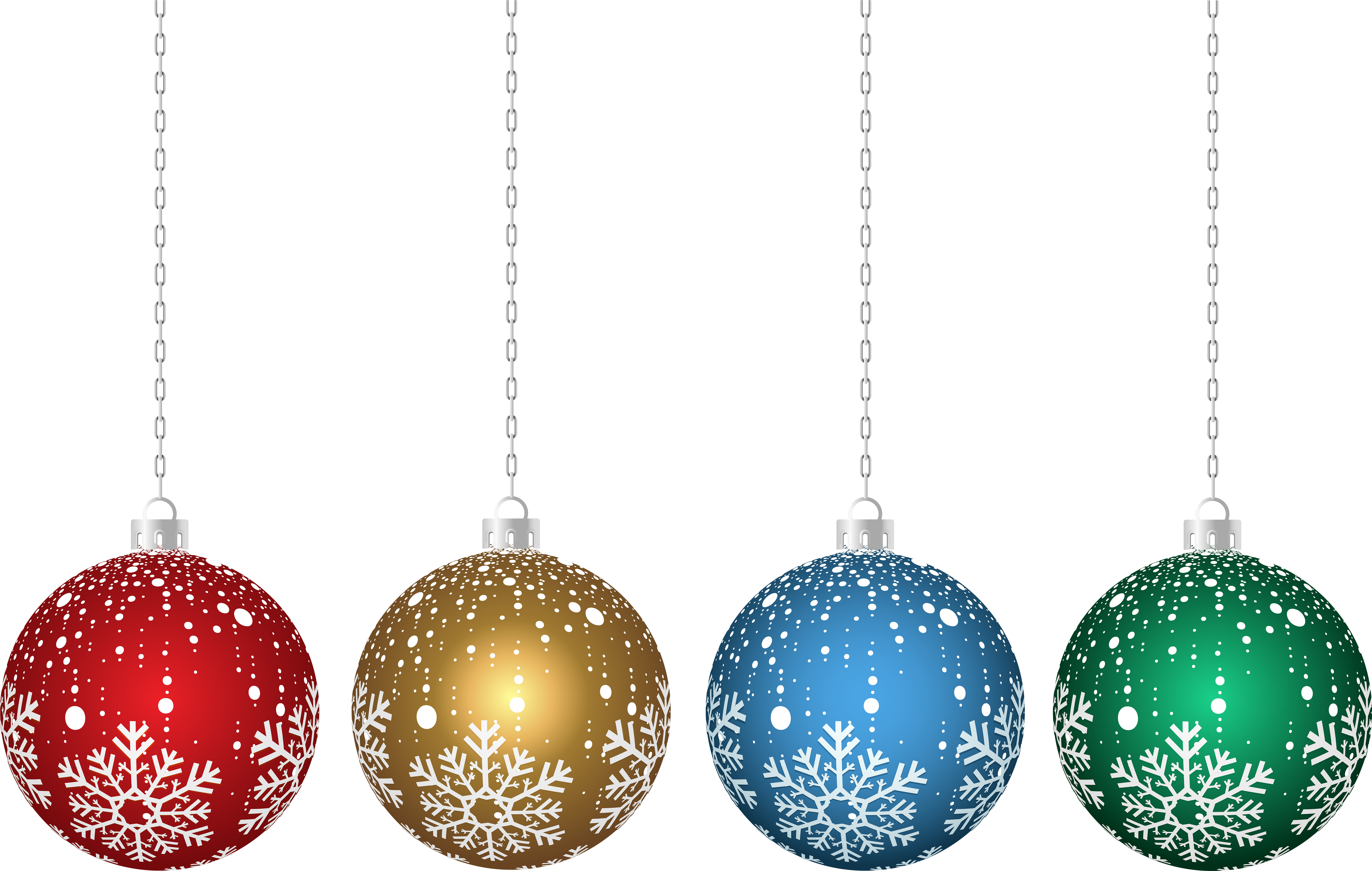 Transparent Hanging Christmas Ornaments Png - Transparent Christmas Clipart Ornaments Png (8000x5006), Png Download