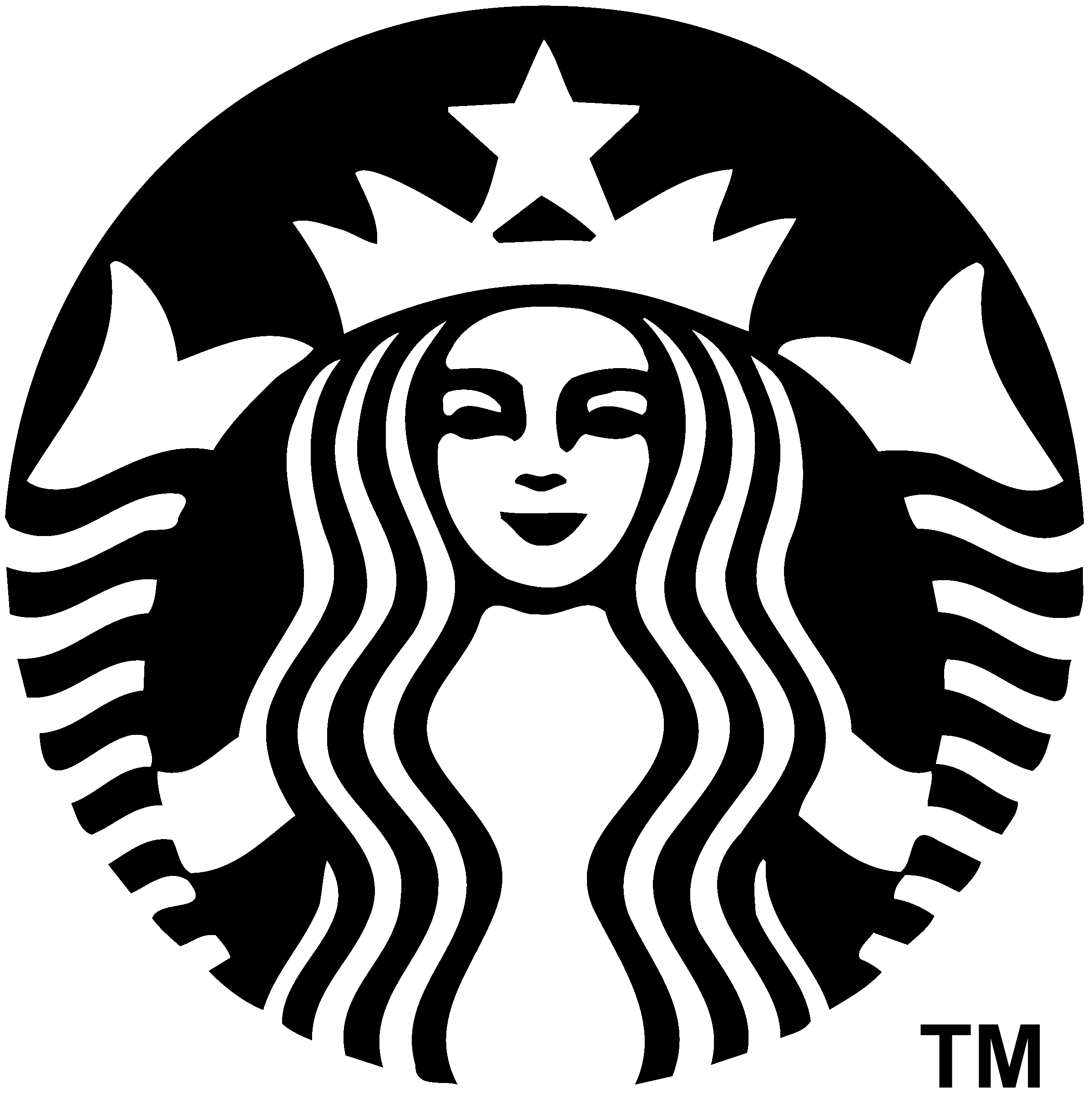 Download Starbucks Logo Black And White Starbucks New Logo 2011 Png Image With No Background Pngkey Com