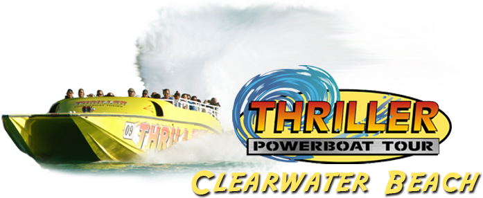 Tour Boats Inc - Clearwater Beach Speed Boat (750x291), Png Download