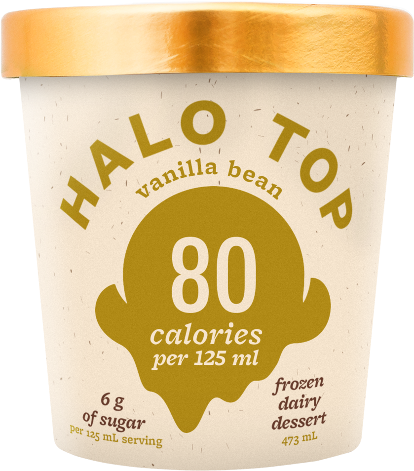 Ht18 Packshot Mock Vanillabean 020119mc - Halo Salted Caramel Ice Cream (1000x1000), Png Download