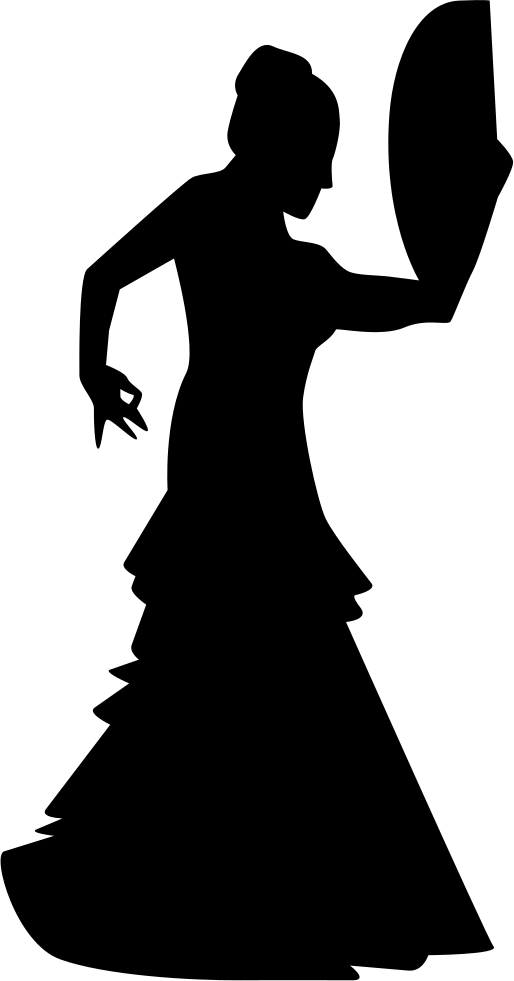 Download Flamenco Female Dancer Silhouette Flamenco Svg Png Image With No Background Pngkey Com