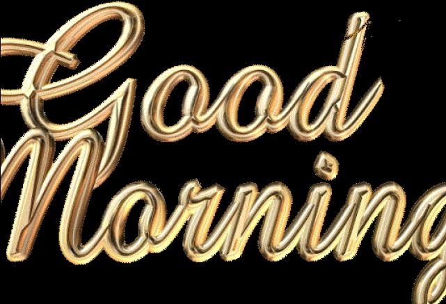 Good Morning Png Transparent Images - Good Morning Words (640x480), Png Download