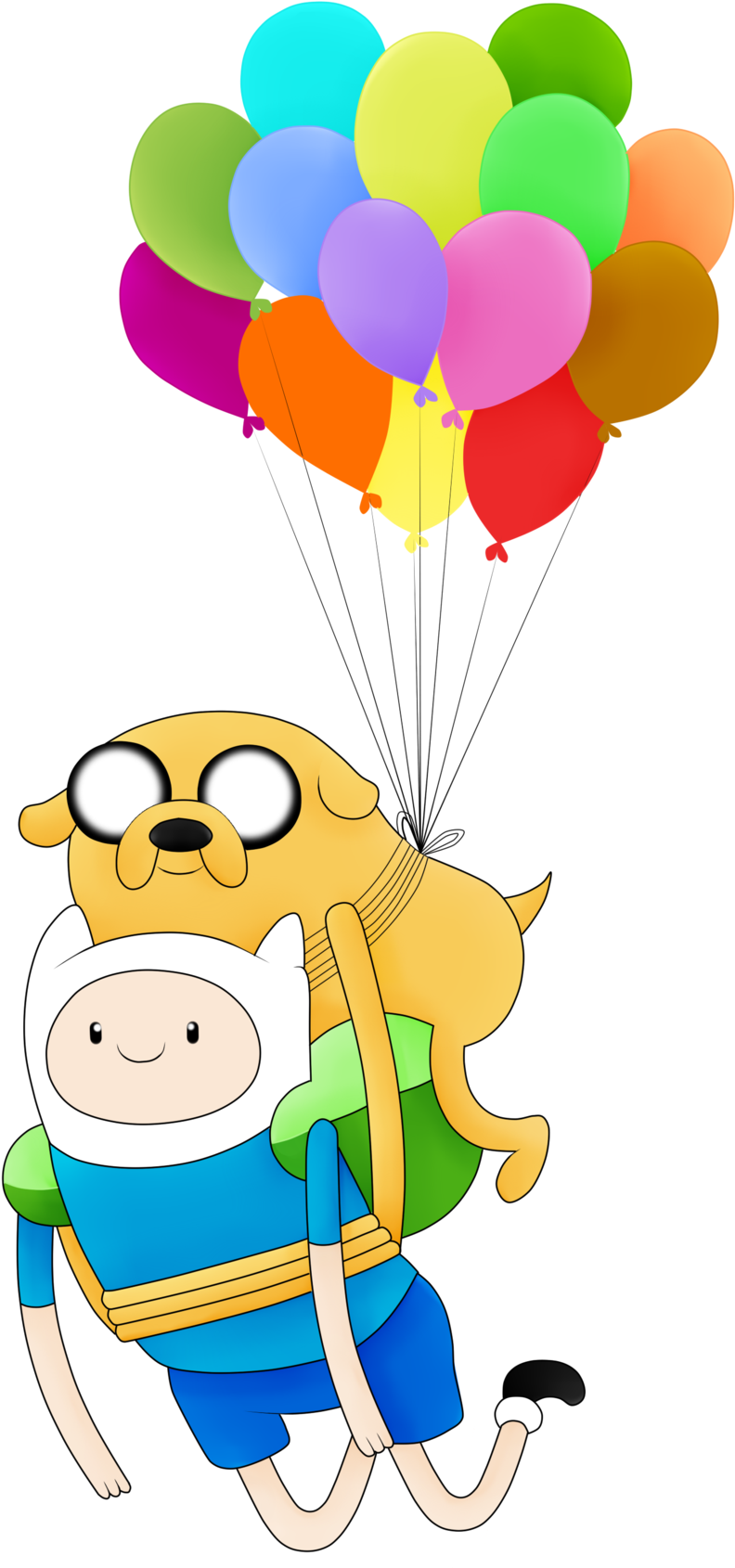Adventure Time Finn Clipart - Adventure Time Finn And Jake Png (1280x1707), Png Download