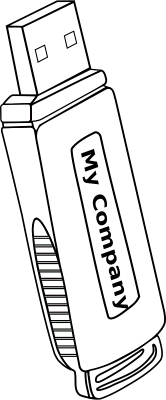 Pen Drive For Coloring (332x800), Png Download