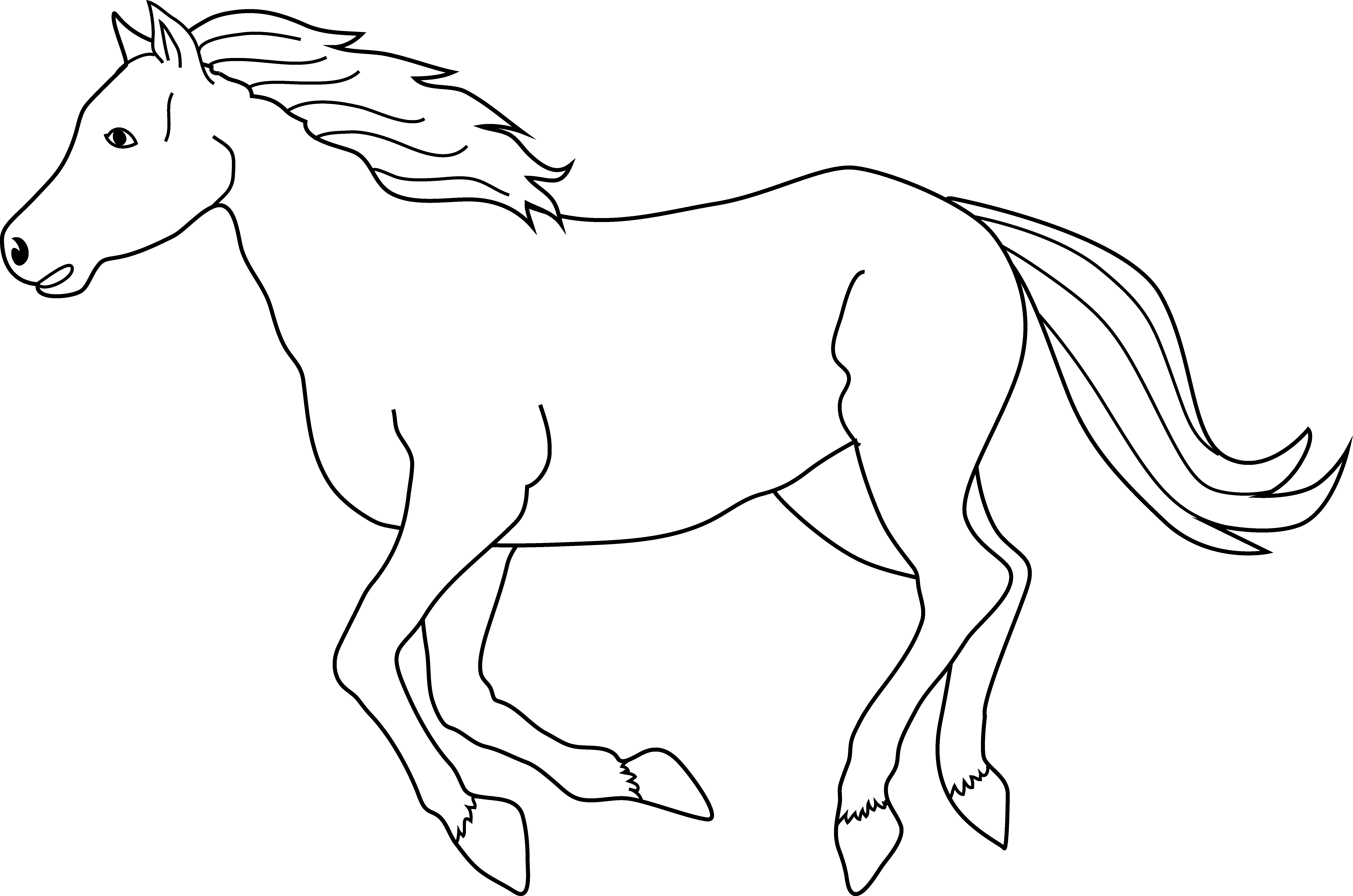 Download Running Horse Clip Art Clip Art Horse Black And White Png Image With No Background Pngkey Com