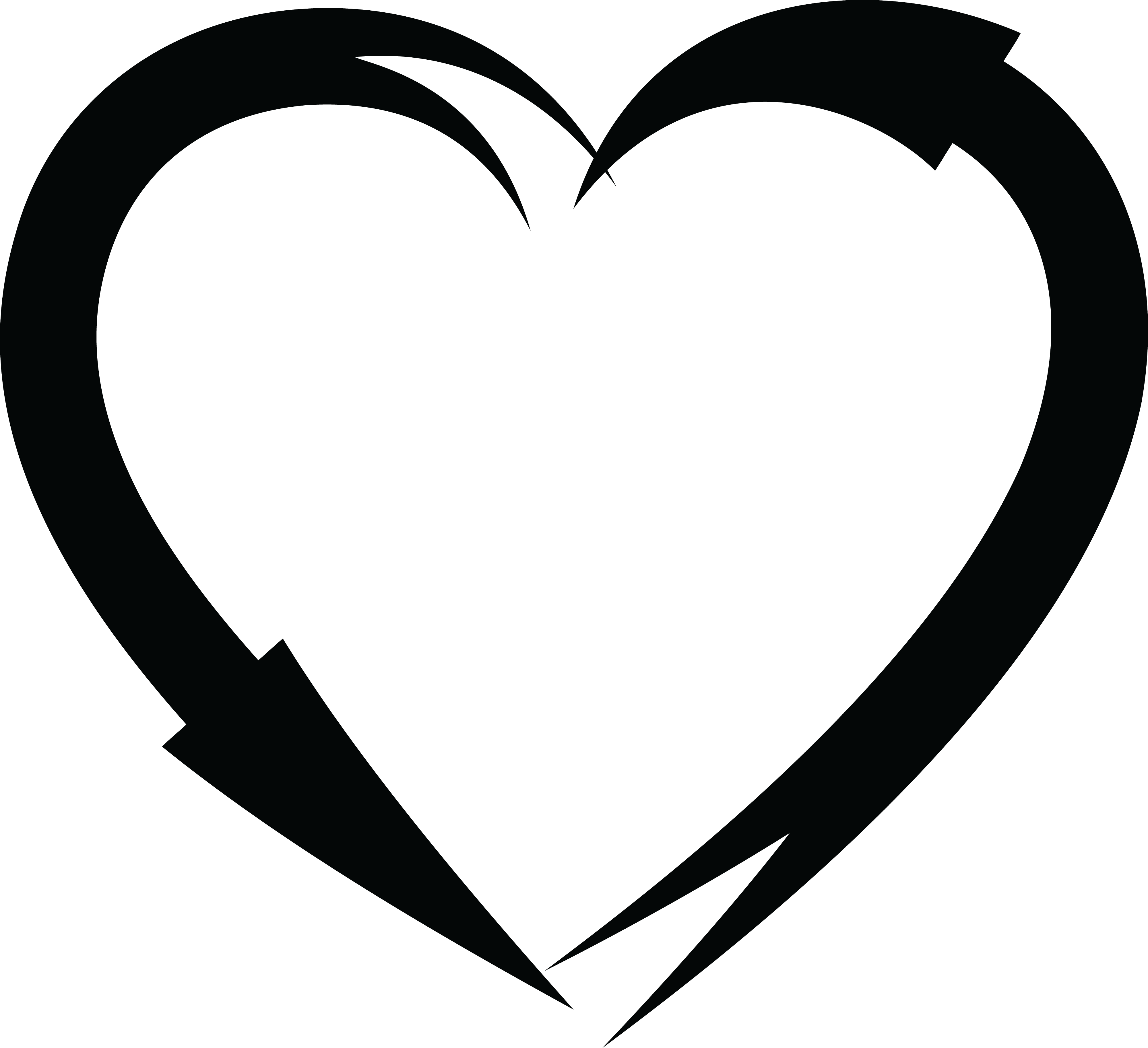 Free Clipart Of A Black And White Heart Frame Of Arrows ...