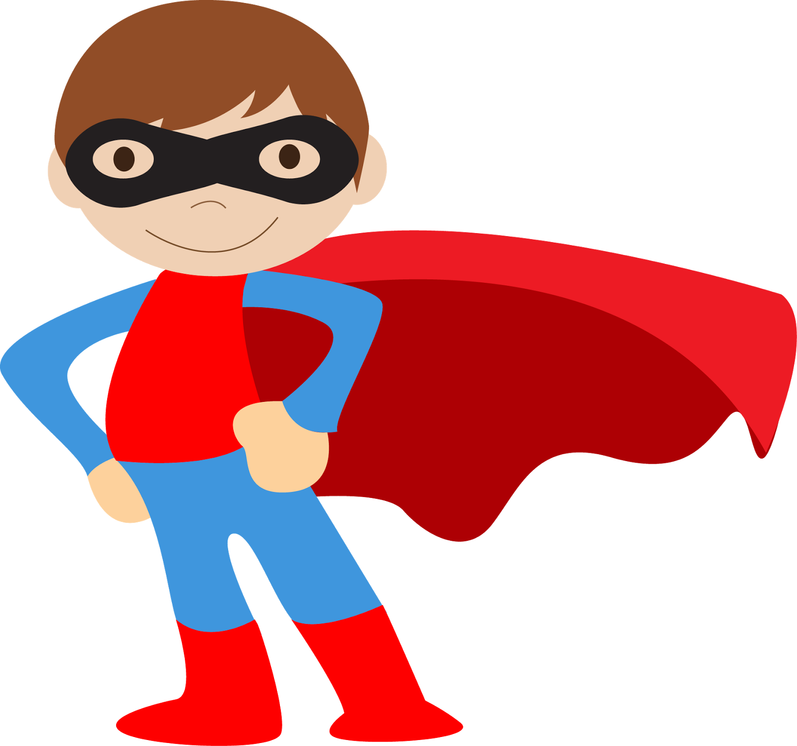 Kids Dressed As Superheroes Clipart - Super Hero Clip Art Boys (1600x1498), Png Download
