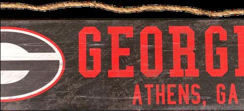 Download Georgia Bulldogs Logo Wood Sign Fan Creations Ncaa Team