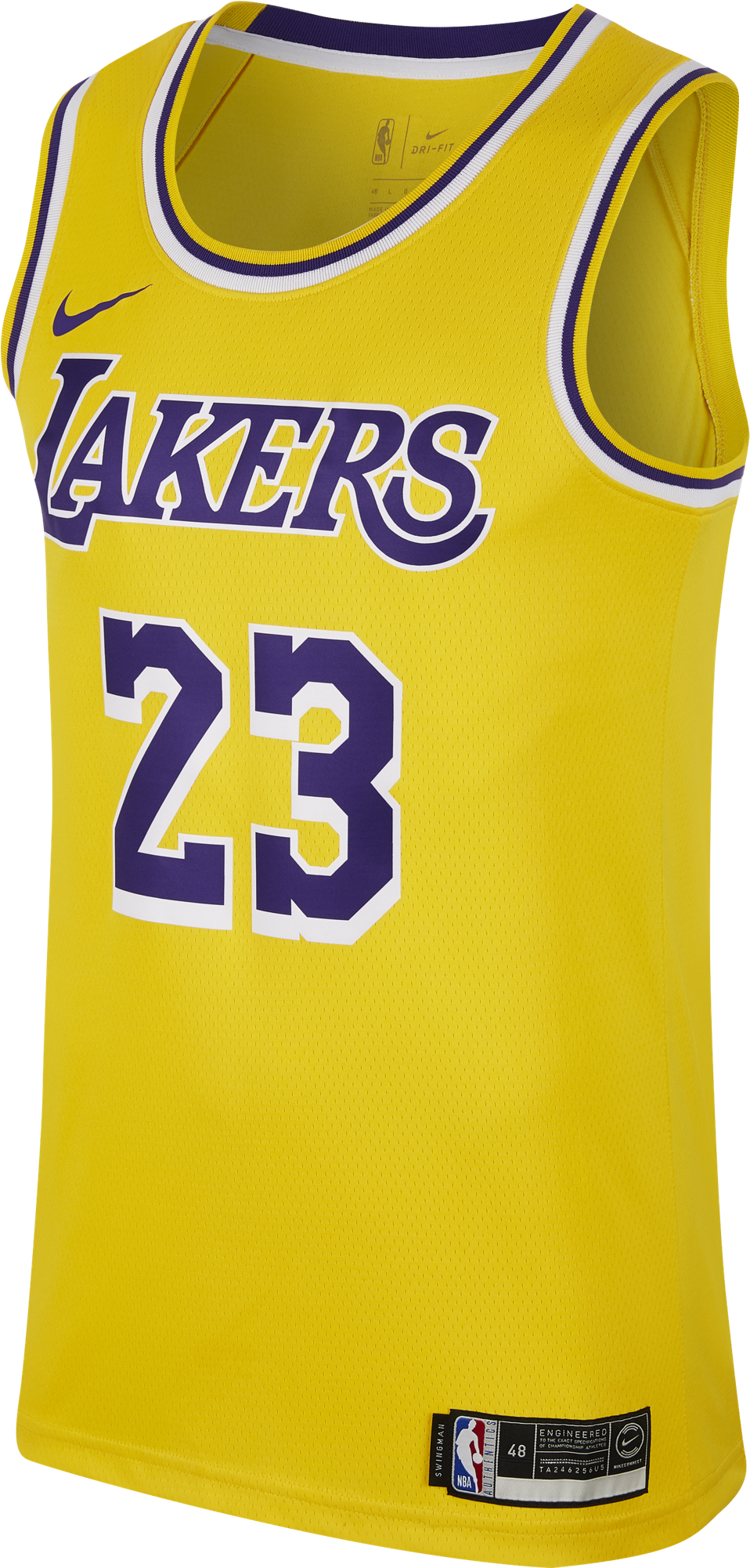 Download Nike Nba Los Angeles Lakers Lebron James Swingman Road Png Image With No Background Pngkey Com