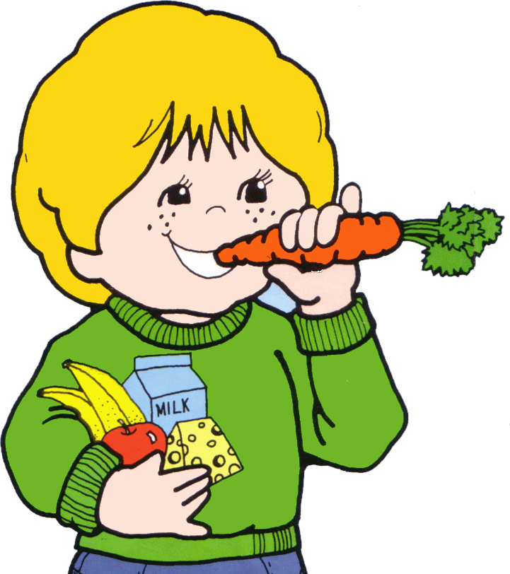 Kids Eating Clipart Png - Kids Eating Healthy Food Clipart (721x812), Png Download