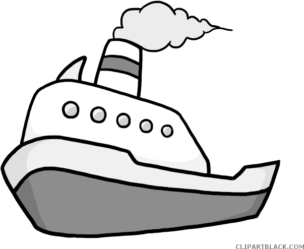 Fishing Boat Clipart Black And White - Boat Clip Art (650x511), Png Download