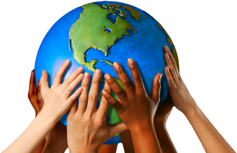 Download India Association - Globe With Hands PNG Image with No Background  - PNGkey.com