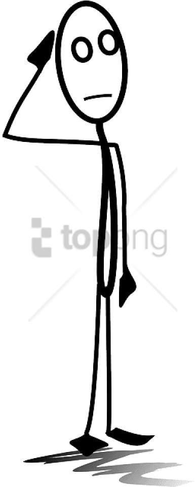 Free Png Download Stick Figure Thinking Png Images - Confused Stickman Png (480x960), Png Download