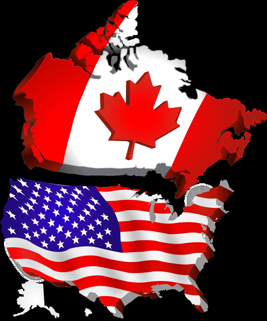 картинки флага сша и канады квартире