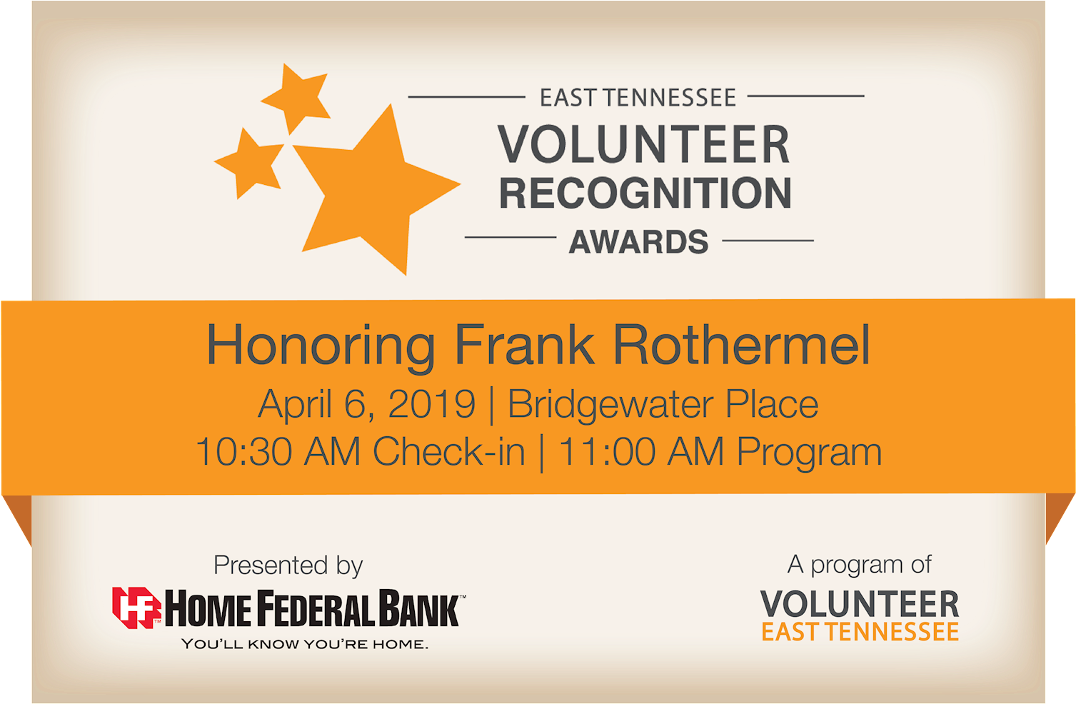 The 4th Annual East Tennessee Volunteer Recognition - Frederick County Bancorp, Inc. (1600x998), Png Download