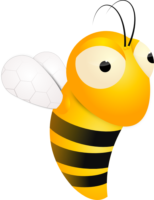 Animated Collection Illustration Of Cute Free Clip - Animated Bee Transparent (540x700), Png Download