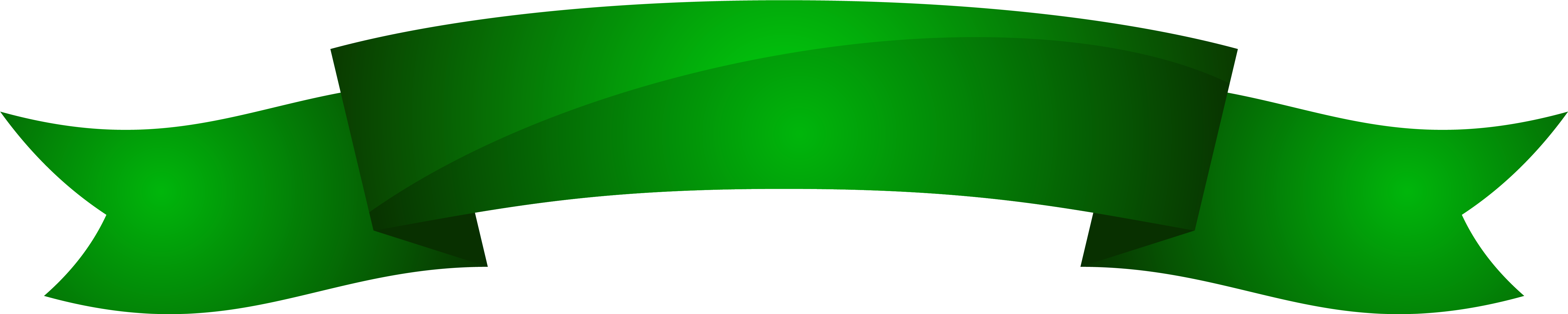 Green Ribbon Banner Png (6253x1411), Png Download