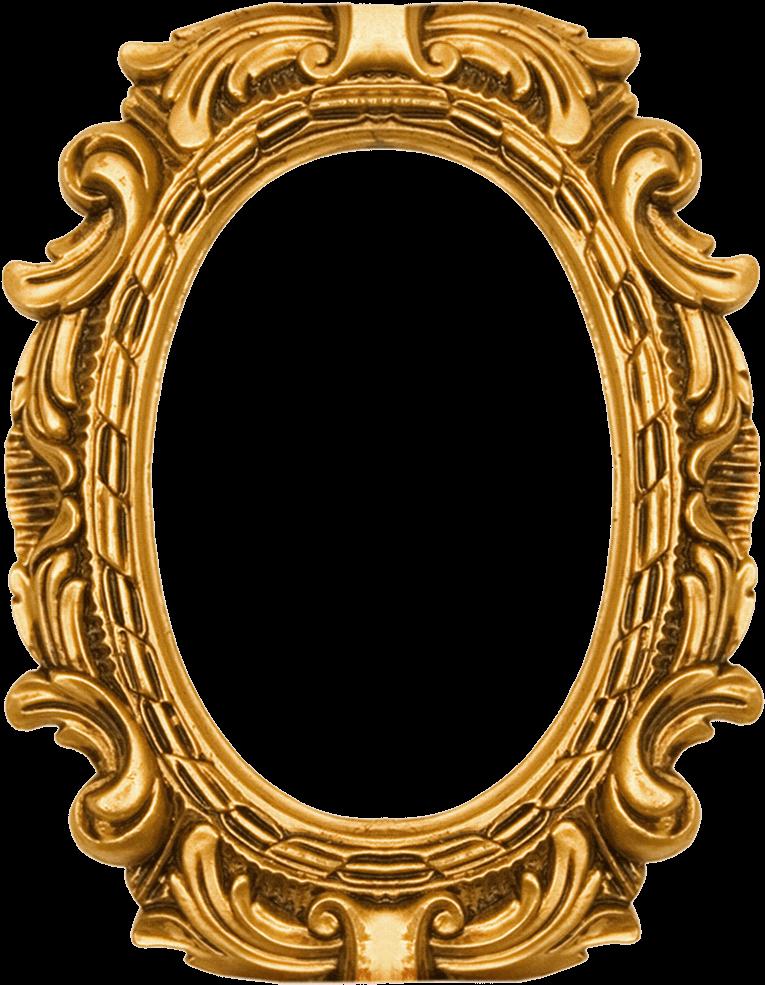 Download Round Ornate Gold Frame - Royal Frame Design Png ...