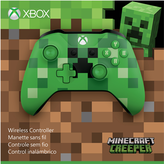 Download Xbox One Bluetooth Wireless Controller Minecraft Creeper Xbox One Minecraft Creeper Wireless Controller Green Png Image With No Background Pngkey Com