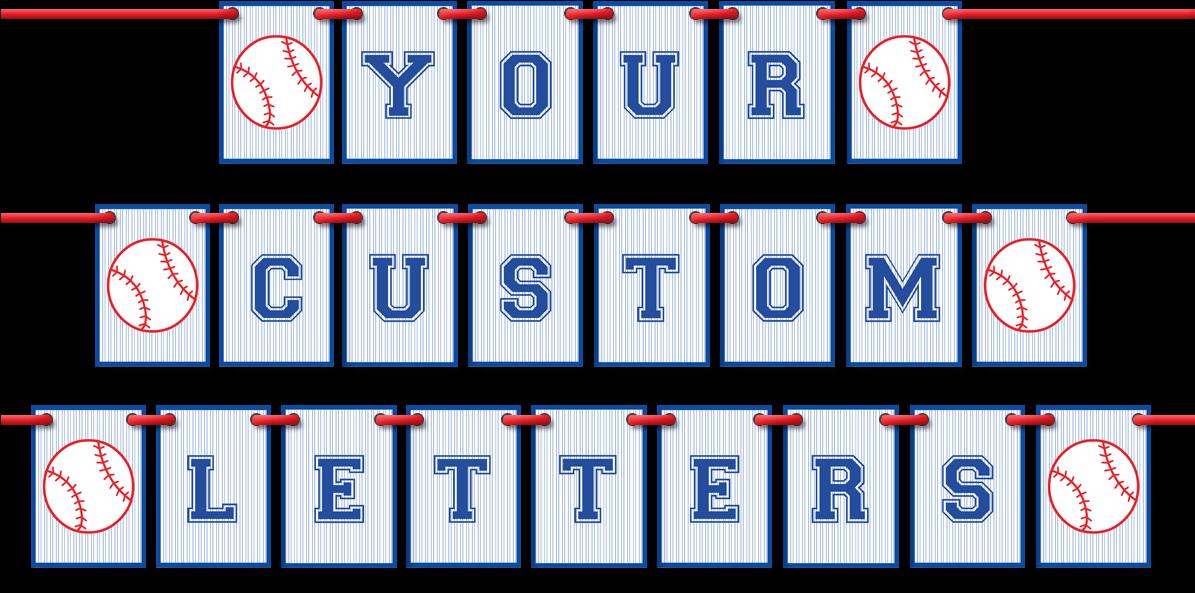 Baseball Pennant Banner Template