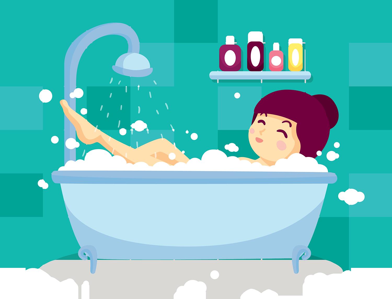 Открытка мыться в ванной, картинки