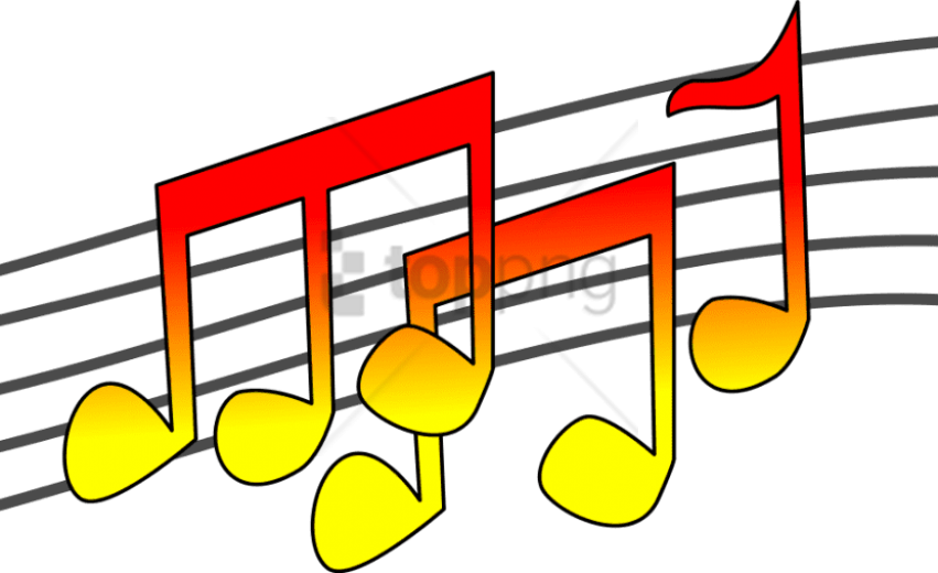 Free Png Download Color Music Notes Png Png Images - Clip Art Music Png (851x520), Png Download