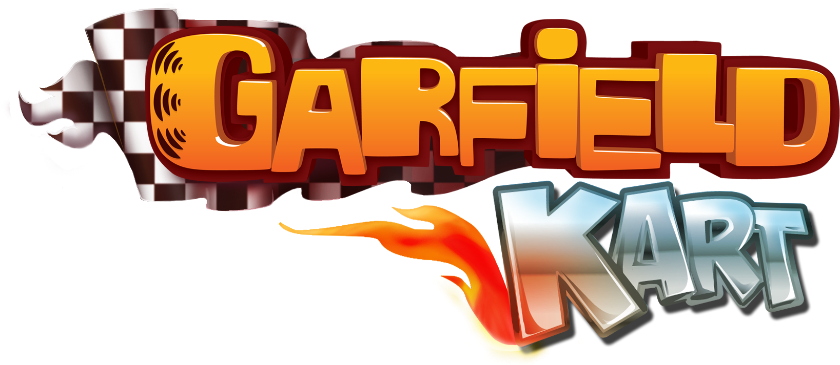 Download Garfield Kart Garfield Kart Logo Png Png Image With No Background Pngkey Com