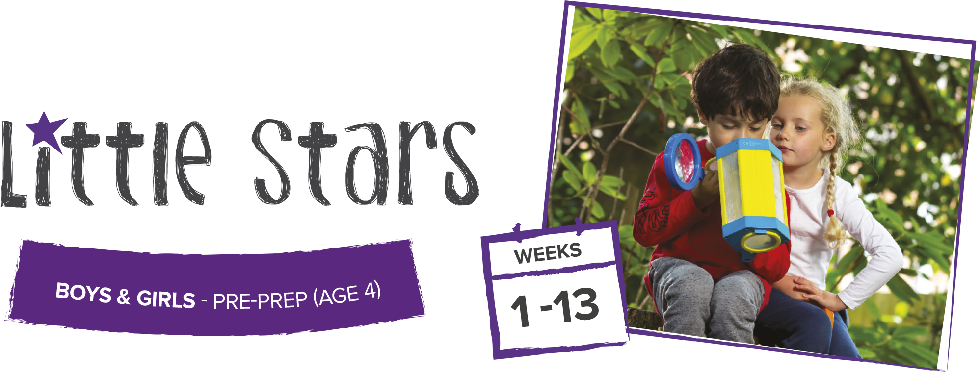 Our Little Stars Courses Are Based In Our 'pre Prep' - Child (2138x758), Png Download