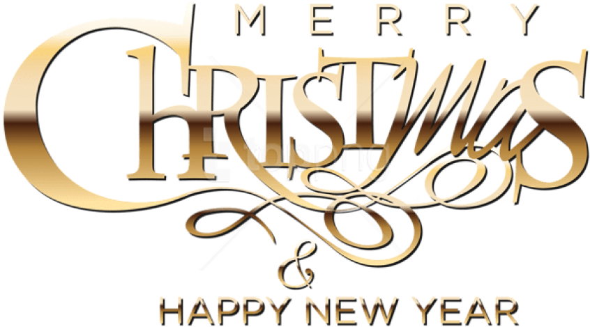 Free Png Merry Christmas And Happy New Year Png - Merry Christmas And Happy New Year 2019 Png (850x488), Png Download