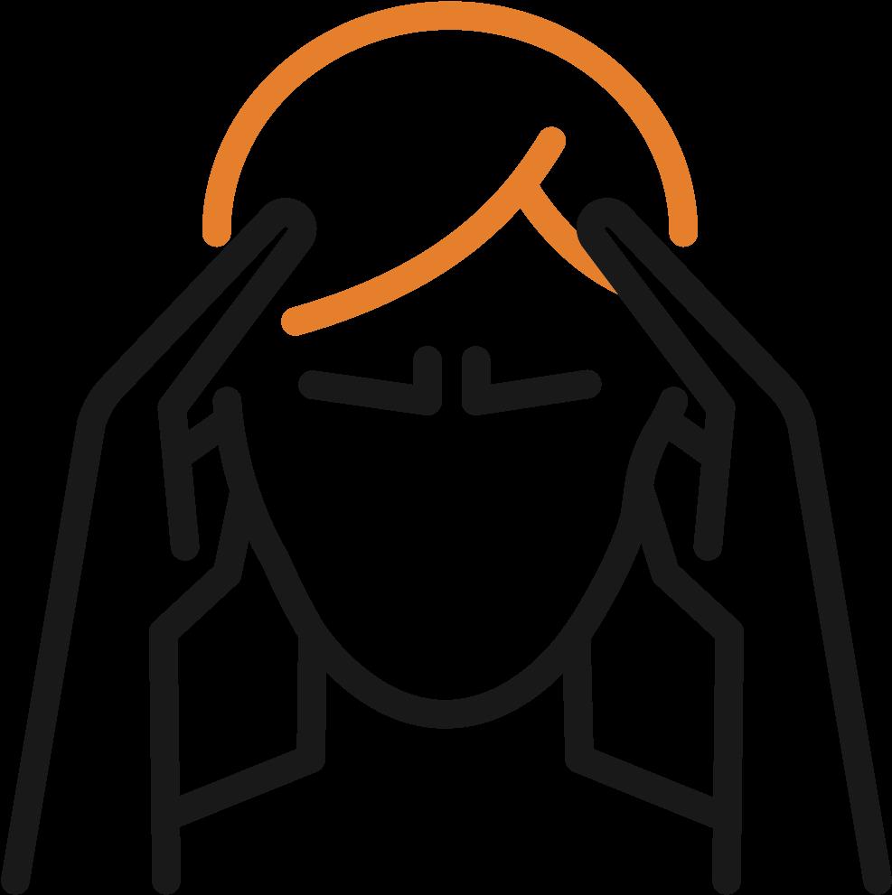 Illutration af hovedpine og migræne
